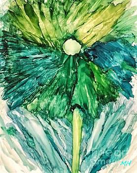 Blue Wild Flower by Marsha Heiken