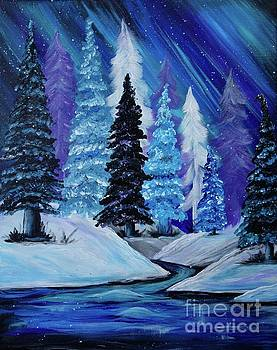 Blue Winter Aurora by Jacqueline Athmann