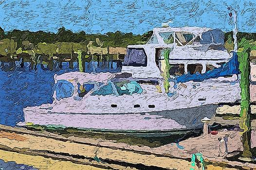 Boats And Boat Docks 3 by Cathy Lindsey
