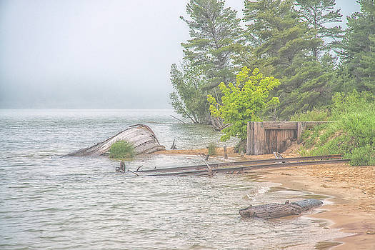 Boat at Sand Point by Jeffrey Klug