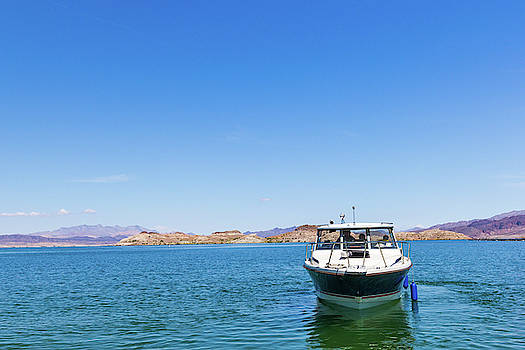 Boat on Lake Mead by SR Green