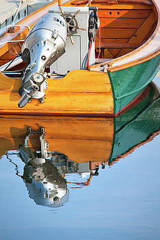 Boat Relfections in Portsmouth Harbor by Eric Gendron