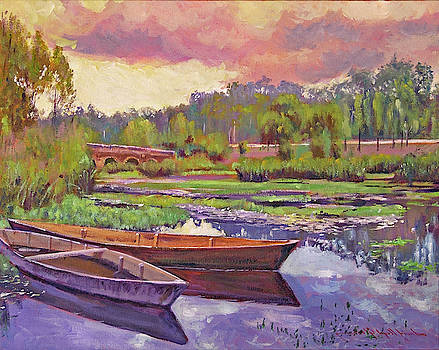 Boats Among The Lilies by David Lloyd Glover
