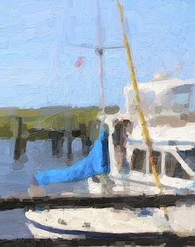 Boats And Boat Docks 5 by Cathy Lindsey