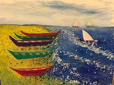 Boats and Sailing on Naples Bay by Susan Grunin