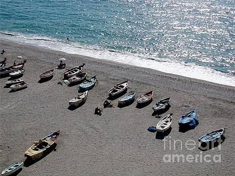 Boats at Burriana by John Edwards