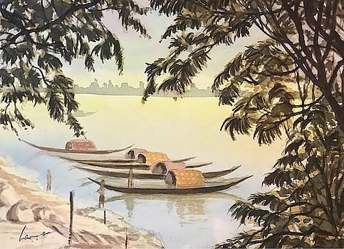 Boats at Princep GHats by Kannan Ananthasubramani