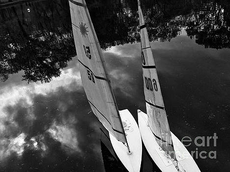 Boats - Conservatory Water - Central Park New York by Miriam Danar