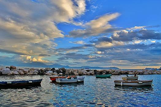 Boats in Naples Bay by Catie Canetti