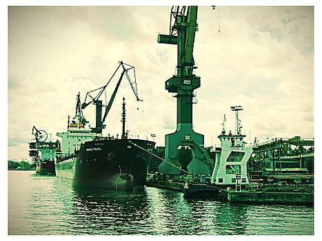Jurgen Huibers - Boats in Shipyard