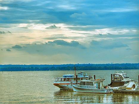Boats In The Potomic River by Kathy Gail