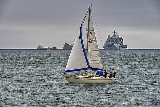 Boats on Plymouth Sound by Chris Day