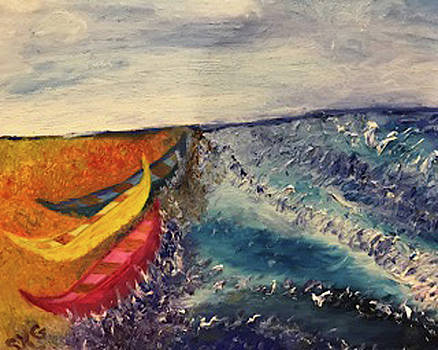 Boats on the Beach  by Susan Grunin