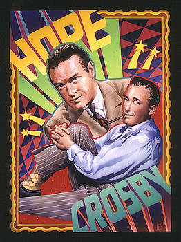 Bob Hope and Bing Crosby by Garth Glazier