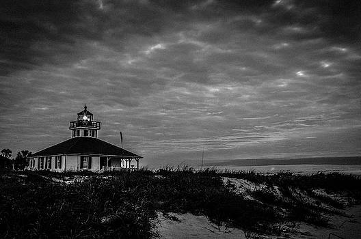Joe Leone - Boca Grande Lighthouse Black and White