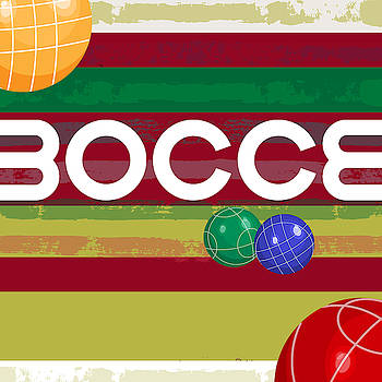 Bocce Ball Game Art by Claire Tingen