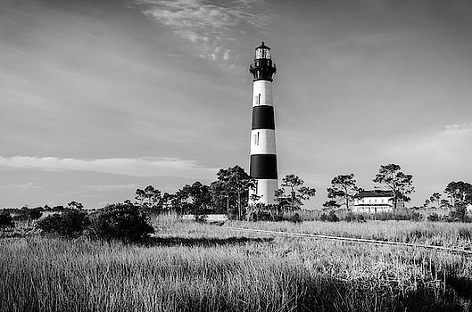 Bodie Island Light - In Black and White by Mike O'Shell