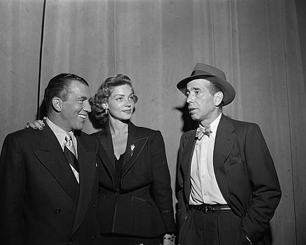 Bogey And Bacall On Toast Of The Town by Cbs Photo Archive