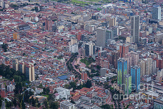 Bogota, Colombia - The Historic La Candelaria From Monserrate by Devasahayam Chandra Dhas