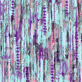 Tina Lavoie - Bohemian Tie Dye Abstract Pattern Cool Colors