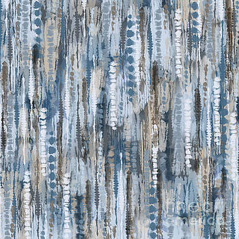 Tina Lavoie - Bohemian Tie Dye Abstract Pattern Indigo Waters