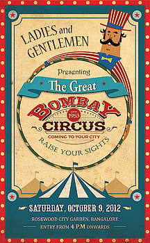 Bombay Circus - Vintage Advertising Poster by Siva Ganesh