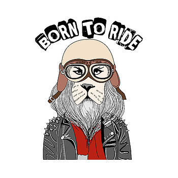 Born To Ride - Baby Room Nursery Art Poster Print by Dadada Shop