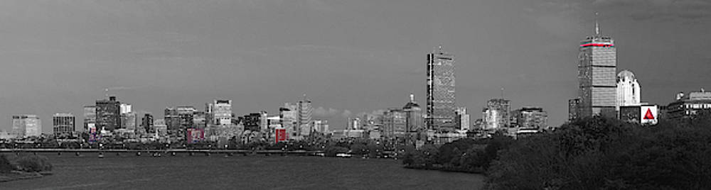 Juergen Roth - Boston Black and White Panorama Selective Color