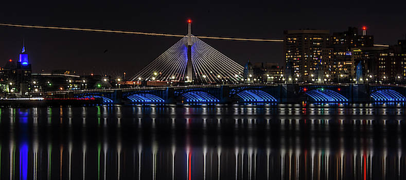 Boston Bridges at Night by Kevin Myron