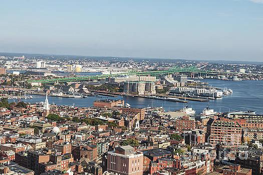 Boston North End and Tobin Bridge  by Thomas Marchessault