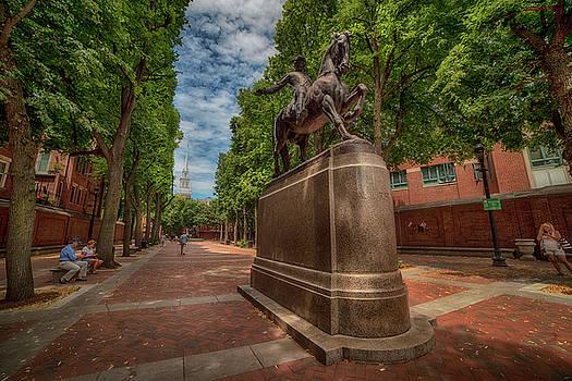 Joann Vitali - Boston North End - Paul Revere Statue