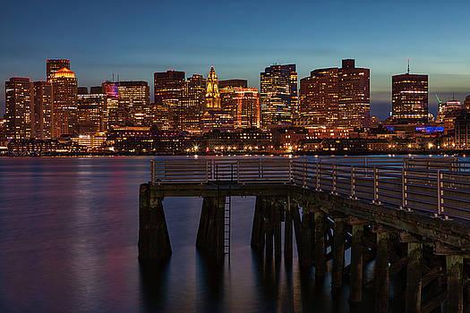 Boston Waterfront Skyline by Juergen Roth