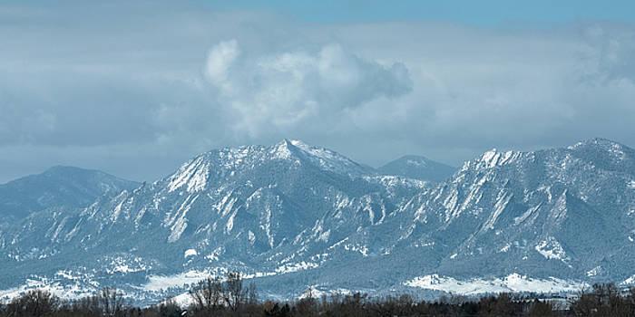 Boulder Colorado Front Range Foothills Dusting by James BO Insogna