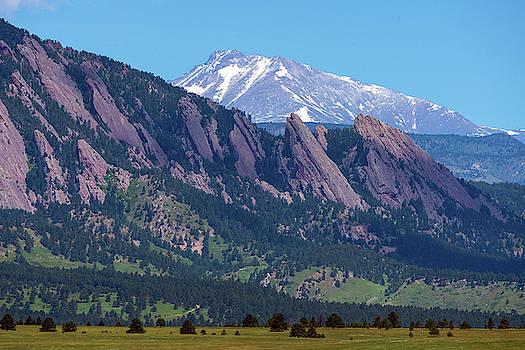 Boulder Flatirons and Longs Peak by James BO Insogna