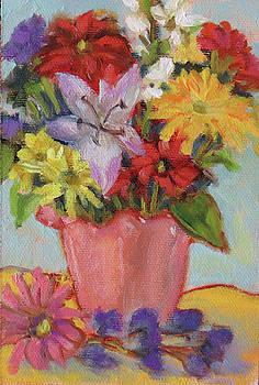 Bouquet in a Pink Vase by Rhett Regina Owings