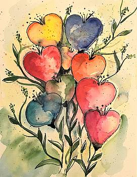 Bouquet of Hearts by Roseann Amaranto