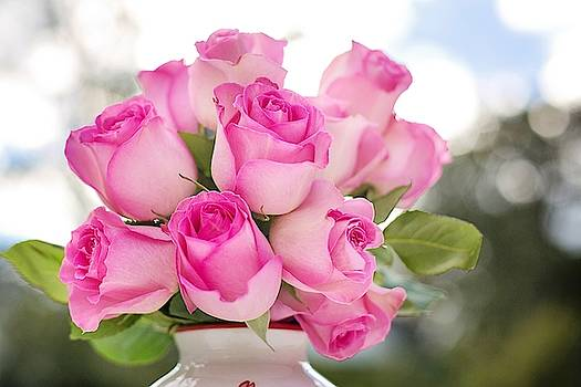 Bouquet of pink roses by Top Wallpapers