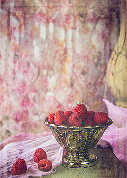 Bowl Of Red Raspberries by Cindi Ressler