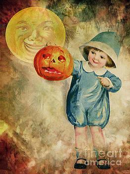 Boy And His Jack-o-lantern  by Tammera Malicki-Wong