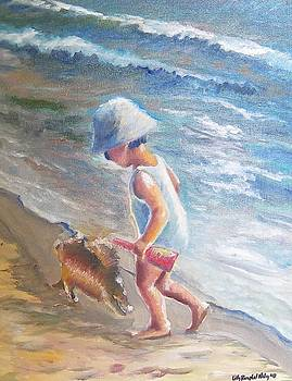 Boy Playing Surfside by Lilly Ramphal