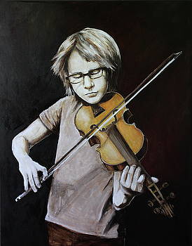 Boy with a viola by Svetlana Maisheva