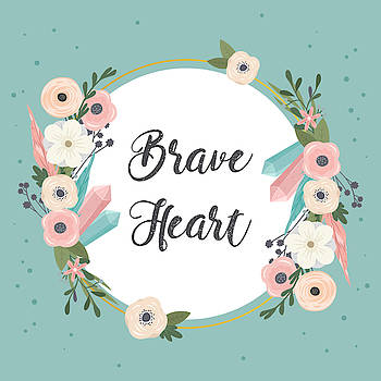 Brave Heart - Boho Chic Ethnic Nursery Art Poster Print by Dadada Shop