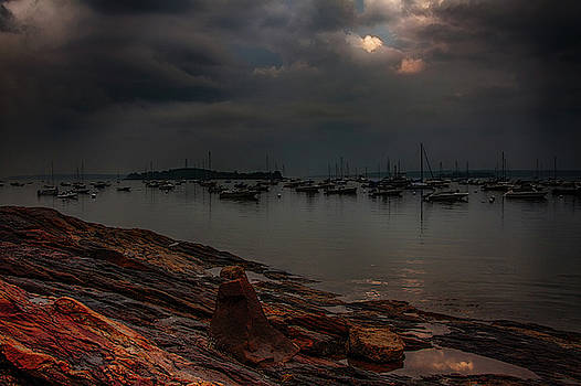 Breaking Light on Falmouth Harbor by Jeff Folger