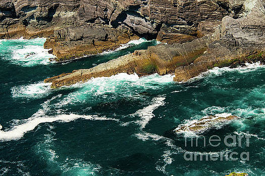 Bob Phillips - Breaking Waves at Kerry Cliffs Four