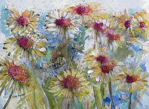 Breezy Wild Flower Watercolor by Lisa Kaiser