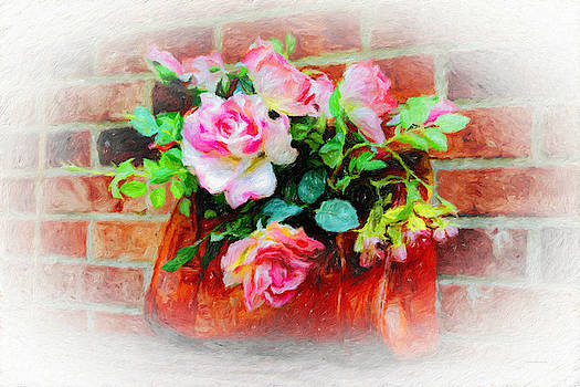Brick and Roses by Diane Lindon Coy