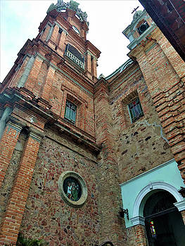 Brick Church in Puerto Vallarta by Deborah Kinisky