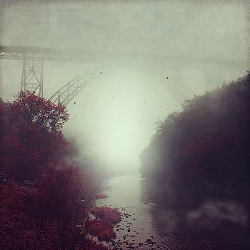 Bridge and River in Fog by Dirk Wuestenhagen