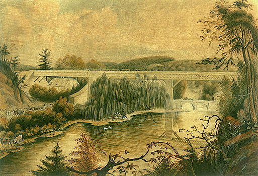 Bridge over the Wissahickon Creek, about 1835 by William Breton
