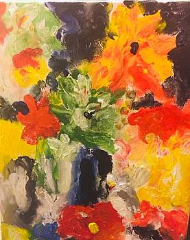 Bright Colored Flowers by Carol Stanley